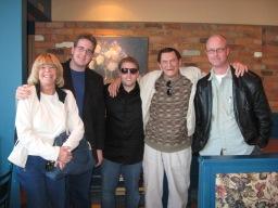 John & Pam Thompson, David Peck & Ben Train