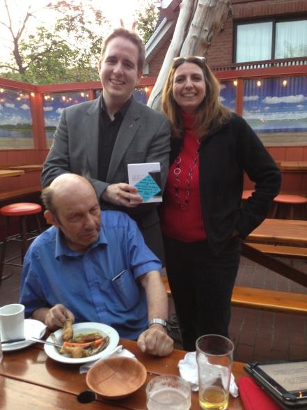 Receiving the Mark Lewis Memorial Award with Lisa Close & Mark Lewis