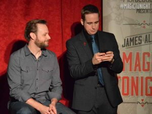 James Alan - texting during the show
